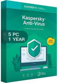 Kaspersky Antivirus 2020 - 5 PCs -  1 Year