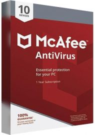 McAfee Antivirus - 10 PCs - 1 Year